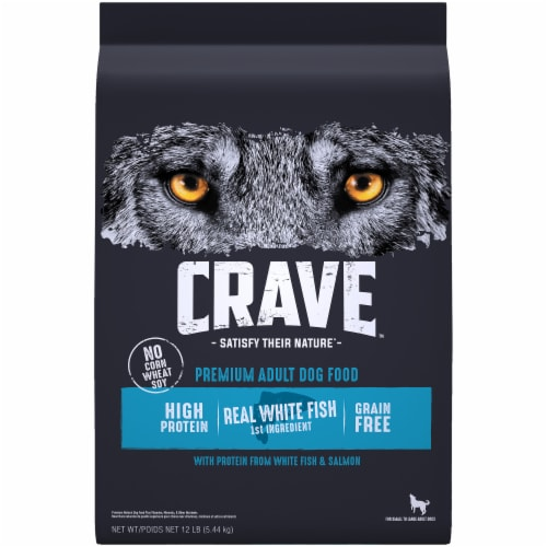 Crave with Protein from Salmon & Ocean Fish Grain Free Adult Dog Food Perspective: front