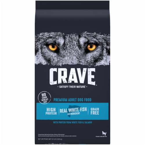 Crave Grain Free with Protein From Salmon & Ocean Fish Adult Dry Dog Food Perspective: front