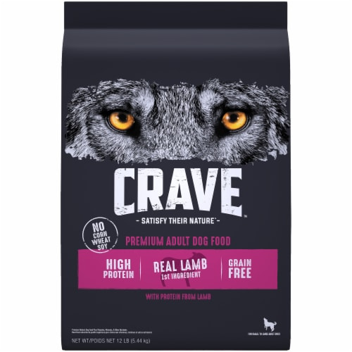 Crave with Protein from Lamb & Venison Grain Free Adult Dog Food Perspective: front