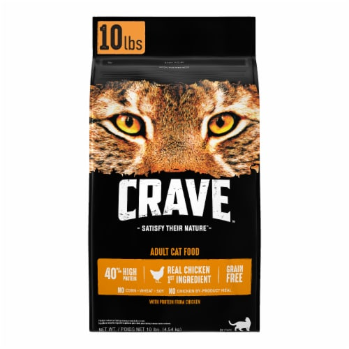 Crave Grain Free with Protein From Chicken Adult Dry Cat Food Perspective: front