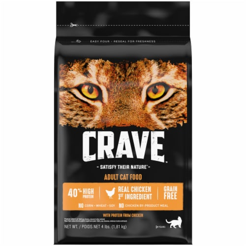 Crave Grain Free with Protein From Chicken Adult Cat Food Perspective: front