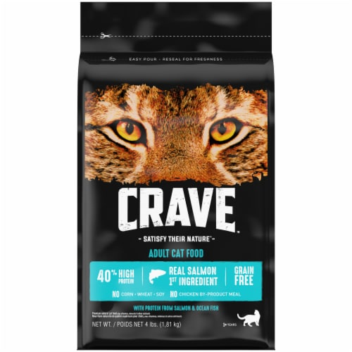 Crave Salmon & Ocean Fish Protein Adult Cat Food Perspective: front