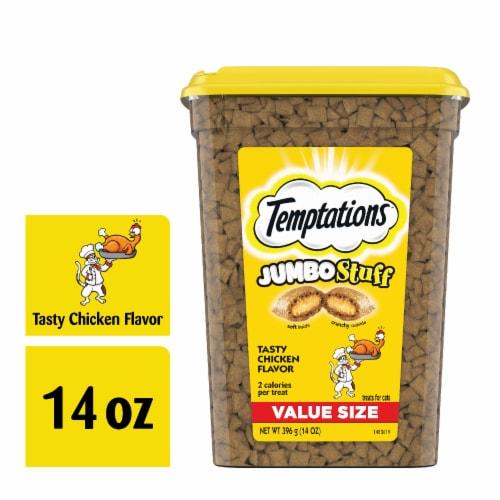 Temptations Jumbo Stuff Tasty Chicken Flavor Cat Treats Perspective: front