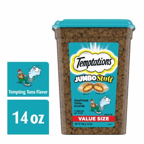 Temptations Jumbo Stuff Tempting Tuna Flavor Cat Treats Value Size Perspective: front