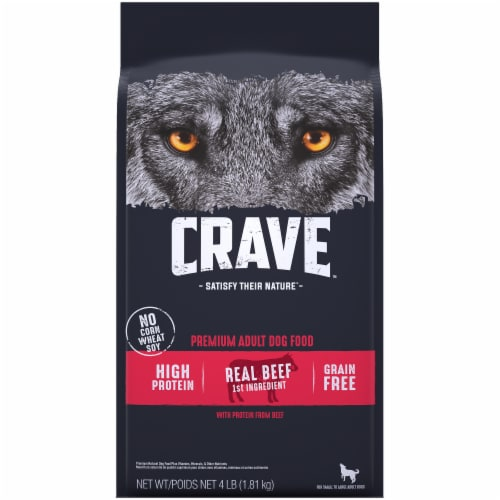 Crave with Protein From Beef Adult Dry Dog Food Perspective: front