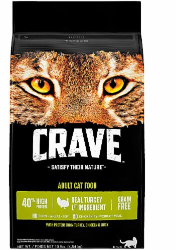 Crave Turkey Chicken & Duck Dry Adult Cat Food Perspective: front