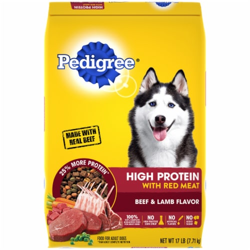 Pedigree High Protein Beef & Lamb Flavor Adult Dry Dog Food Perspective: front