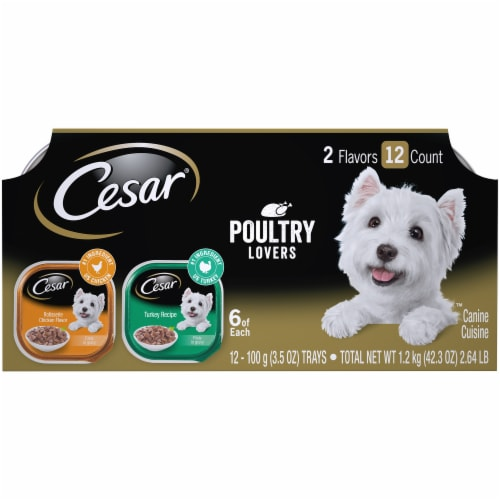 Cesar Poultry Lovers Wet Dog Food Variety Pack Perspective: front