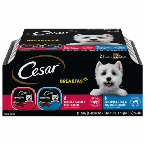 Cesar Canine Cuisine Breakfast Wet Dog Food Variety Pack Perspective: front