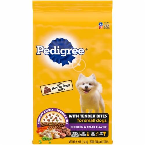 Pedigree Tender Bites Chicken & Steak Flavor Small Dog Dry Dog Food Perspective: front