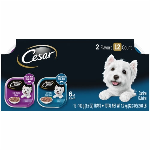 Cesar Filets in Sauce Wet Dog Food Variety Pack Perspective: front