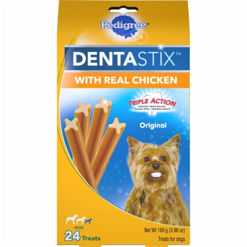 Pedigree DentaStix Triple Action Original with Real Chicken Mini Dog Treats Perspective: front