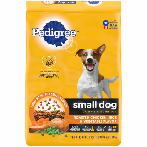 Pedigree Small Dog Complete Nutrition Roasted Chicken Rice & Vegetable Flavor Adult Dry Dog Food Perspective: front