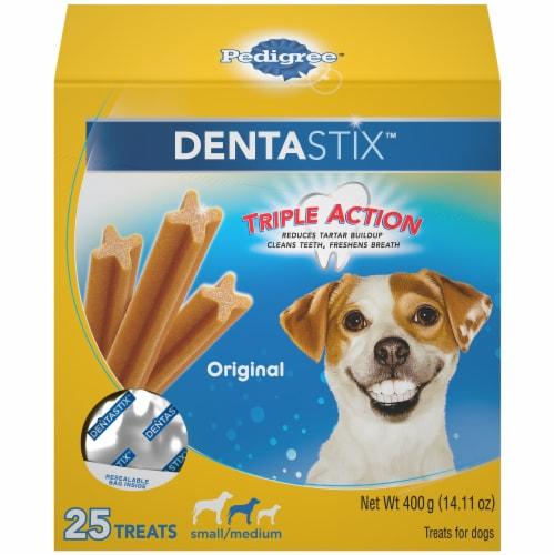 Pedigree DentaStix Triple Action Original Small/Medium Dog Treats Perspective: front