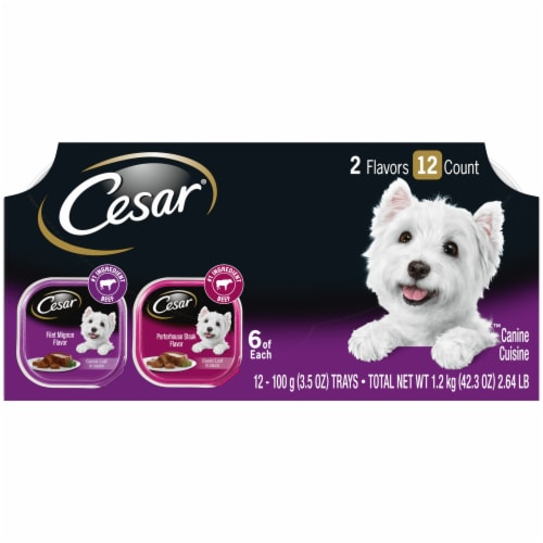 Cesar Classics Wet Dog Food Variety Pack Perspective: front