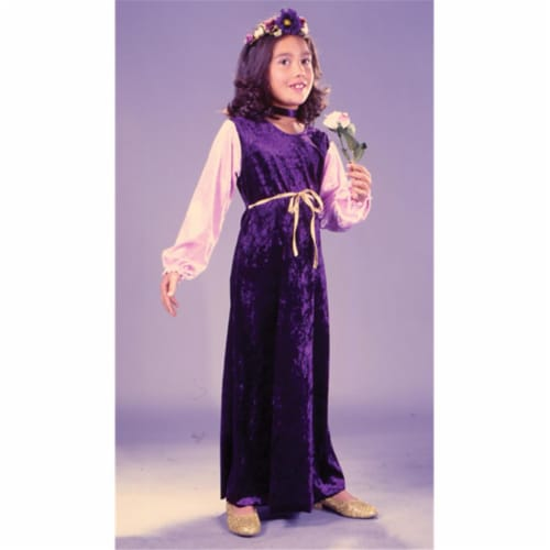 Costumes For All Occasions Fw1480Sm Flower Princess Velvt Ch Sm Perspective: front