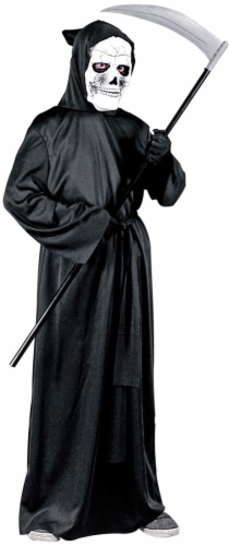 Fun World Children's Horror Robe Costume - Black Perspective: front