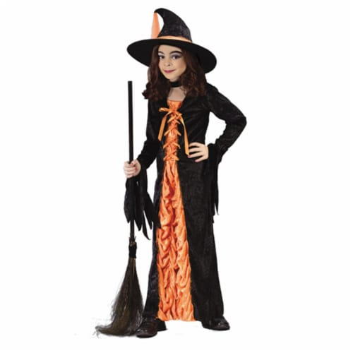 Costumes For All Occasions Fw5904Md Witch Mystic Orange Medium Perspective: front