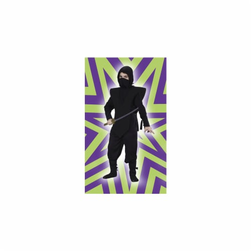 Costumes For All Occasions FW5887BKMD Medium Ninja Complete - Black Perspective: front