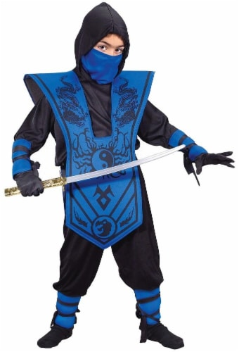Costumes For All Occasions Ninja Complete Child Costume - Blue Perspective: front