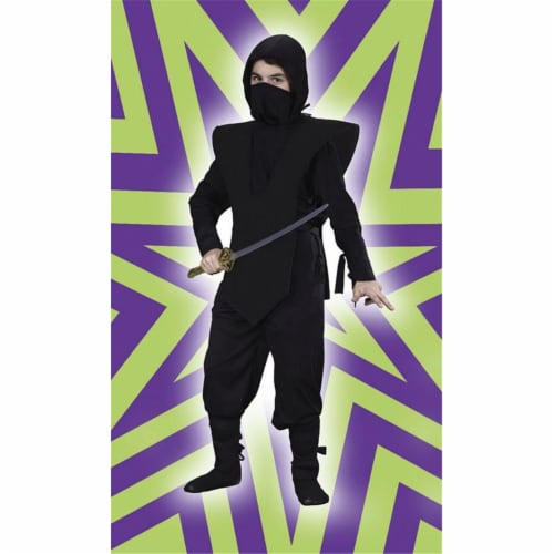 Costumes For All Occasions FW5887BKLG Ninja Complete Black Large Perspective: front