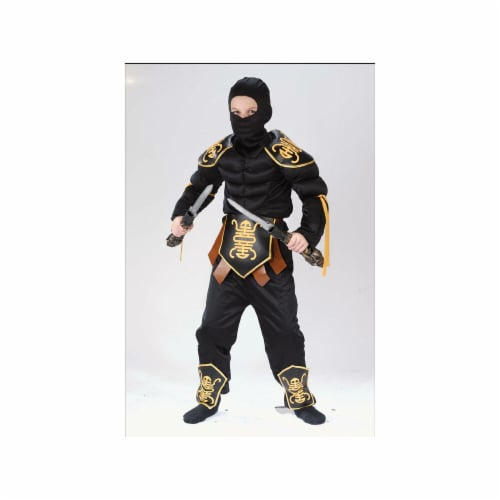 Costumes For All Occasions FW8700LG Ninja Warrior Muscle 12 To 14 Perspective: front