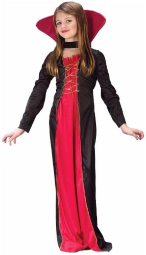 Costumes For All Occasions Victorian Vampiress Child Costume Perspective: front