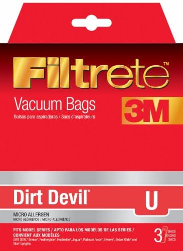 3M Filtrete Dirt Devil U Vacuum Bags Perspective: front
