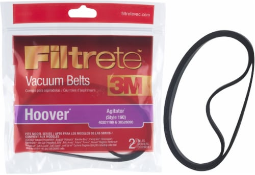 3M Filtrete Hoover 190 Agitator Vacuum Belts Perspective: front