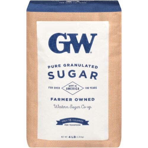 GW Pure & Natural Fine Granulated Sugar Perspective: front