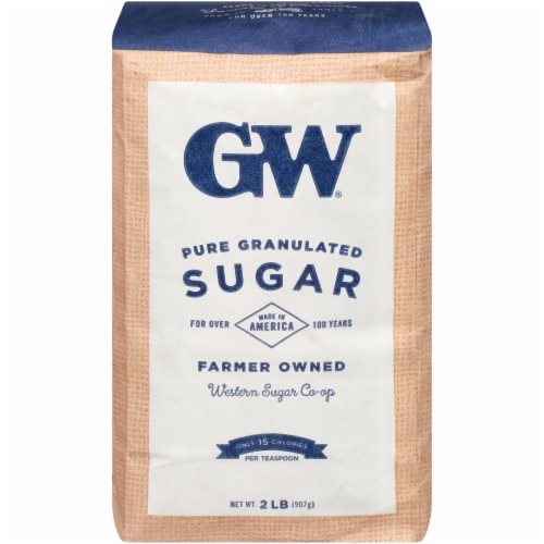GW Extra Fine Granulated Pure Sugar Perspective: front