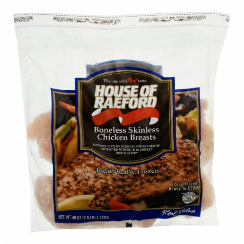 House of Raeford Frozen Chicken Breasts Perspective: front