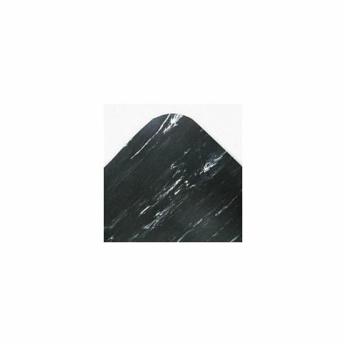 Crown CU3672BK Cushion-Step Mat- Rubber- 36 x 72- Marbleized Black Perspective: front
