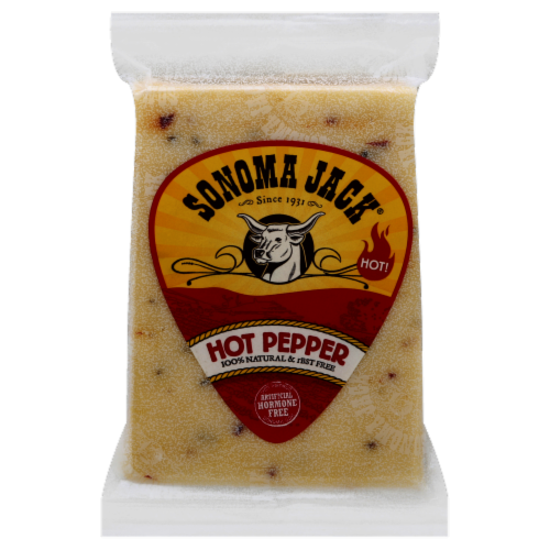 Sonoma Jack Hot Pepper Cheese Perspective: front