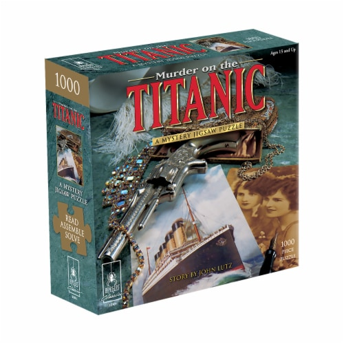 University Games Murder on the Titanic Classic Mystery Jigsaw Puzzle Perspective: front