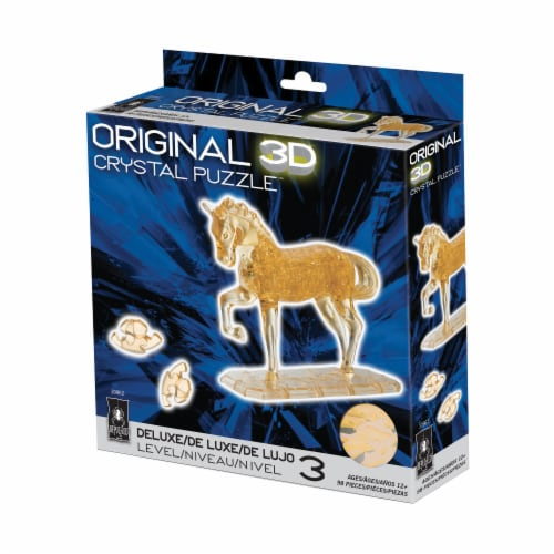 BePuzzled 3D Horse Crystal Puzzle Perspective: front