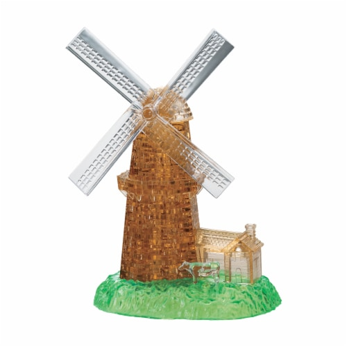 BePuzzled 3D Crystal Windmill Puzzle Perspective: front
