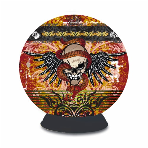 BePuzzled Lifestyle 3D Sphere Skull Tattoo Puzzle Perspective: front