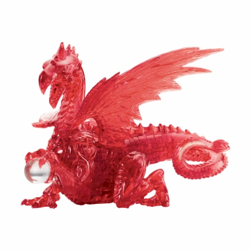 BePuzzled 3D Dragon Crystal Puzzle - Red Perspective: front