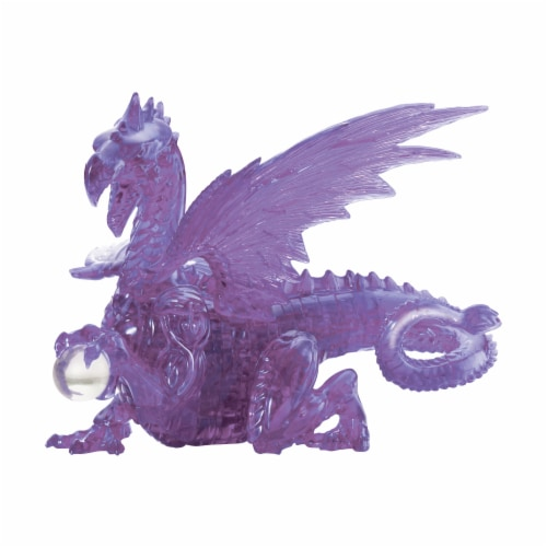 University Games 3D Purple Dragon Puzzle Perspective: front