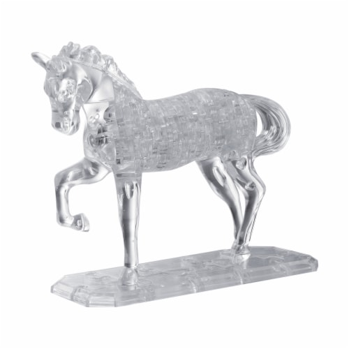 BePuzzled 3D Crystal Puzzle Horse - White Perspective: front