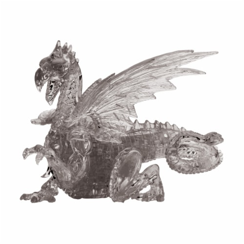 BePuzzled 3D Dragon Crystal Puzzle - Black Perspective: front