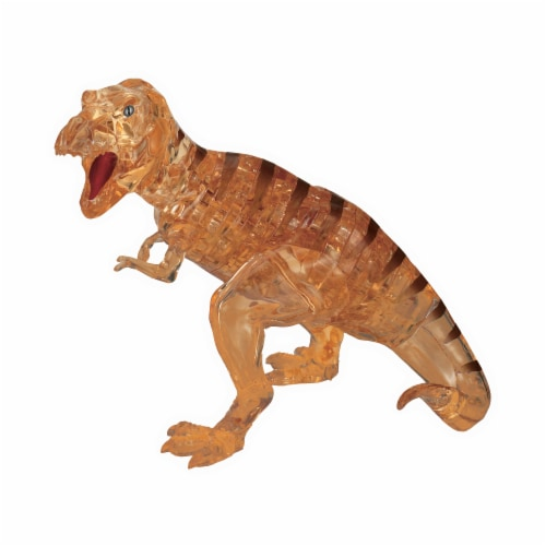 BePuzzled 3D Crystal Puzzle T-Rex - Brown Perspective: front