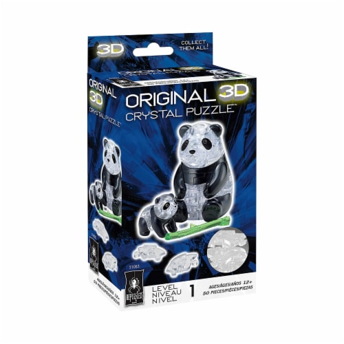 Bepuzzled Panda And Cub Level 1 3D Crystal Puzzle Perspective: front