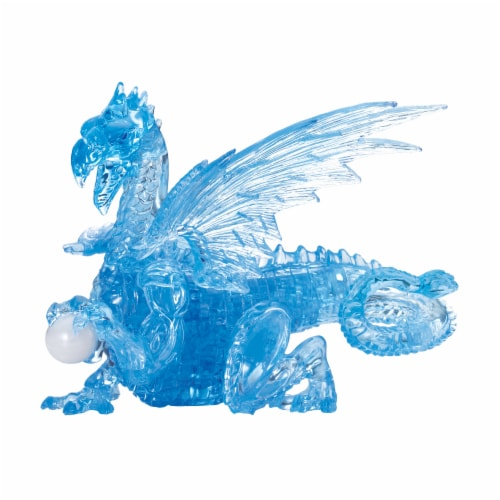 BePuzzled 3D Crystal Dragon Puzzle Perspective: front