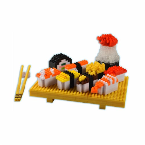 BePuzzled 3D Pixel Sushi Puzzle Deluxe Perspective: front