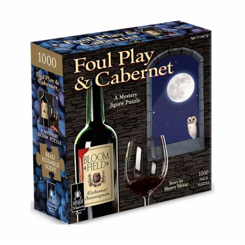 University Games Foul Play & Cabernet Classic Mystery Jigsaw Puzzle Perspective: front