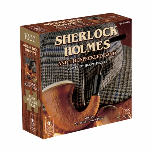 University Games Sherlock Holmes Classic Mystery Jigsaw Puzzle Perspective: front