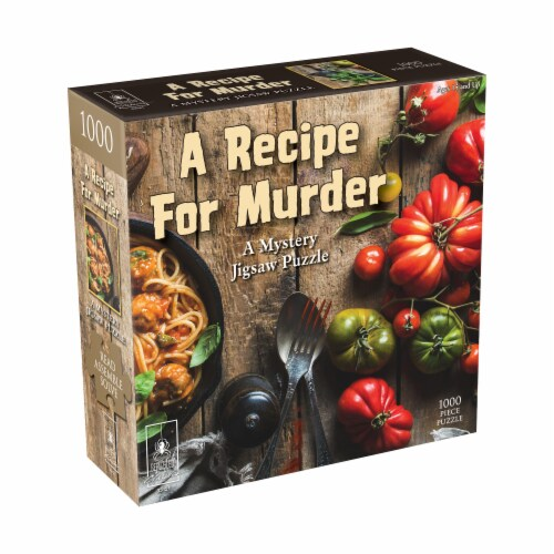 University Games Recipe for Murder Classic Mystery Jigsaw Puzzle Perspective: front