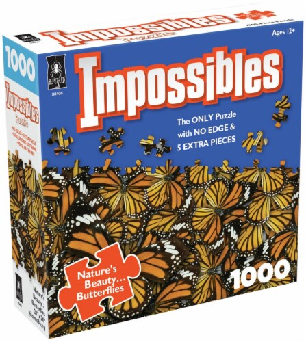 Jigsaw Puzzle 1000 Pieces 24 X24 -Impossibles- Nature's Beauty Butterflies Perspective: front